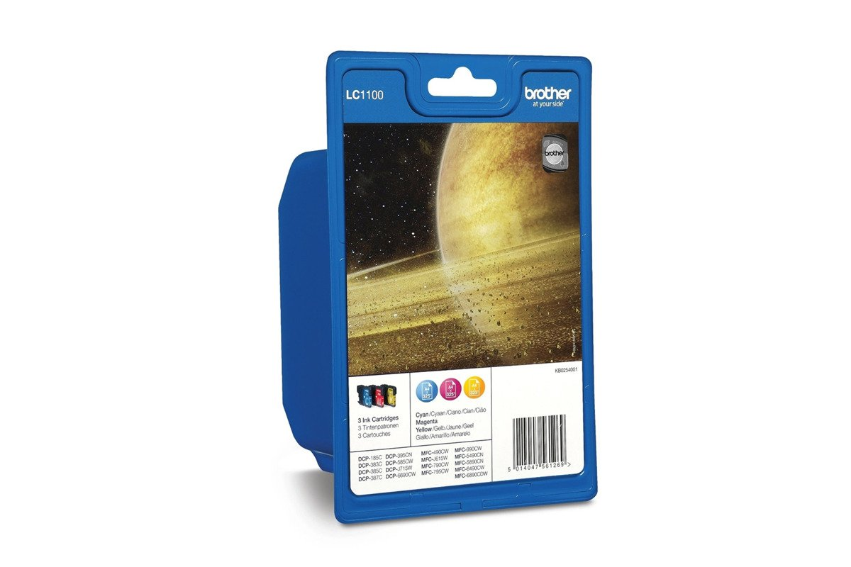 Genuine Ink Cartridge Brother LC1100  Multipack CMY