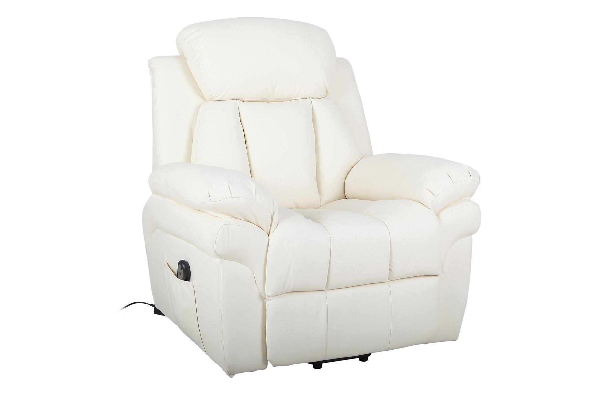 Elektrischer TV-Sessel mit Standhilfe Homcom 713-013CW Creme
