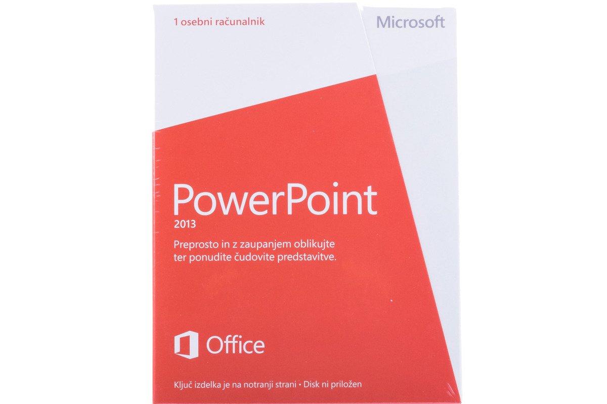 Neu OVP Microsoft Powerpoint 2013 079-05918 Slowenisch Medialess Eurozone