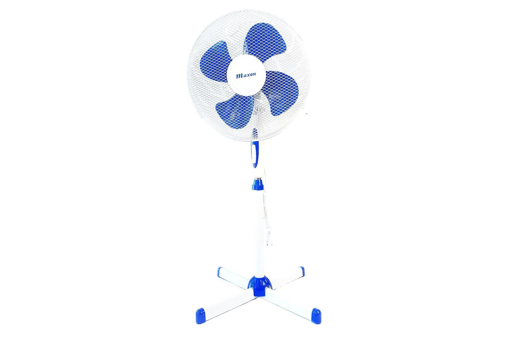 Oszillierender Standventilator Maxon 45W MX-1377 Blau / Weiß Ventilator