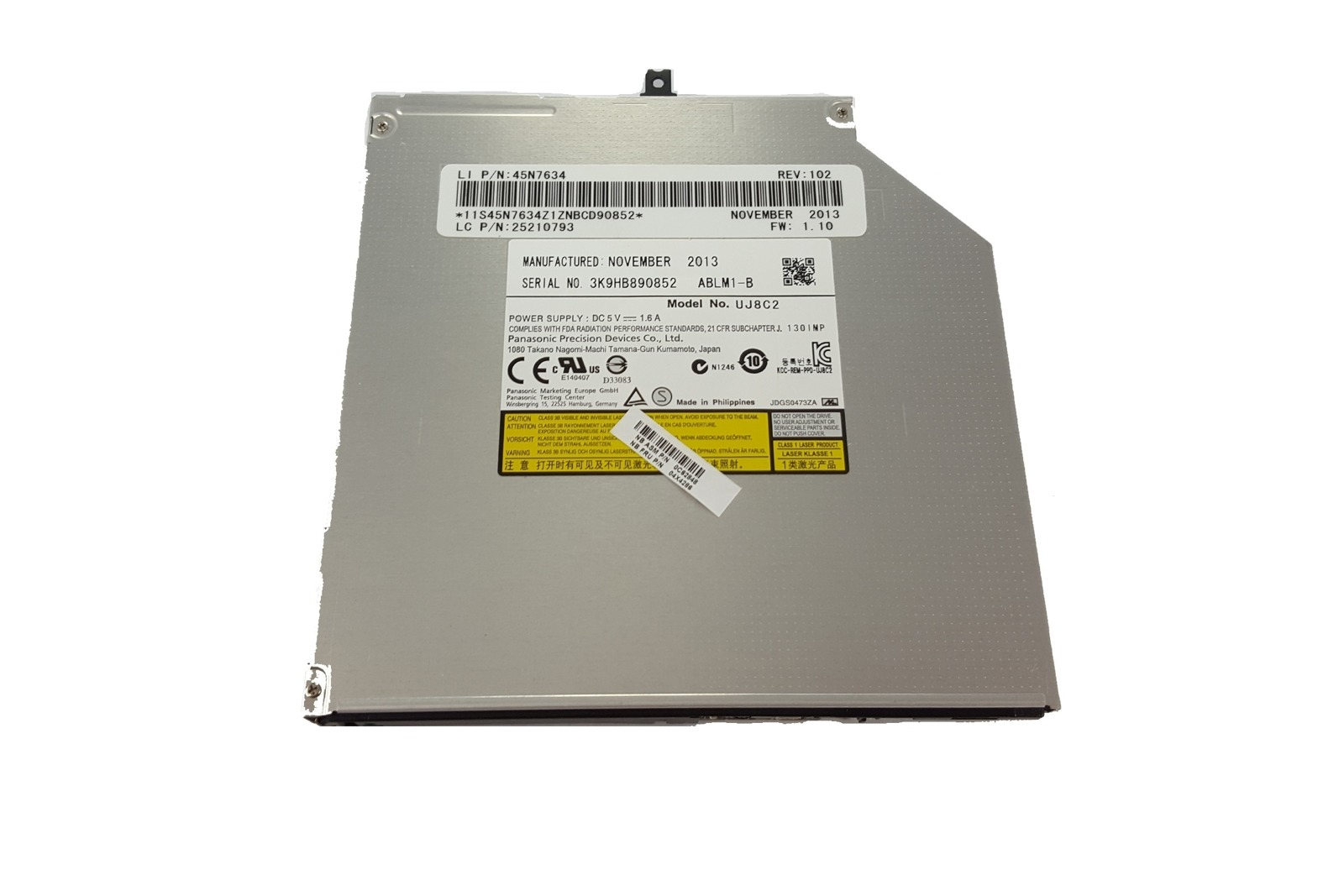 Laufwerk DVD-RW Panasonic UJ8B2 UJ8C2 Für Dell ASUS HP