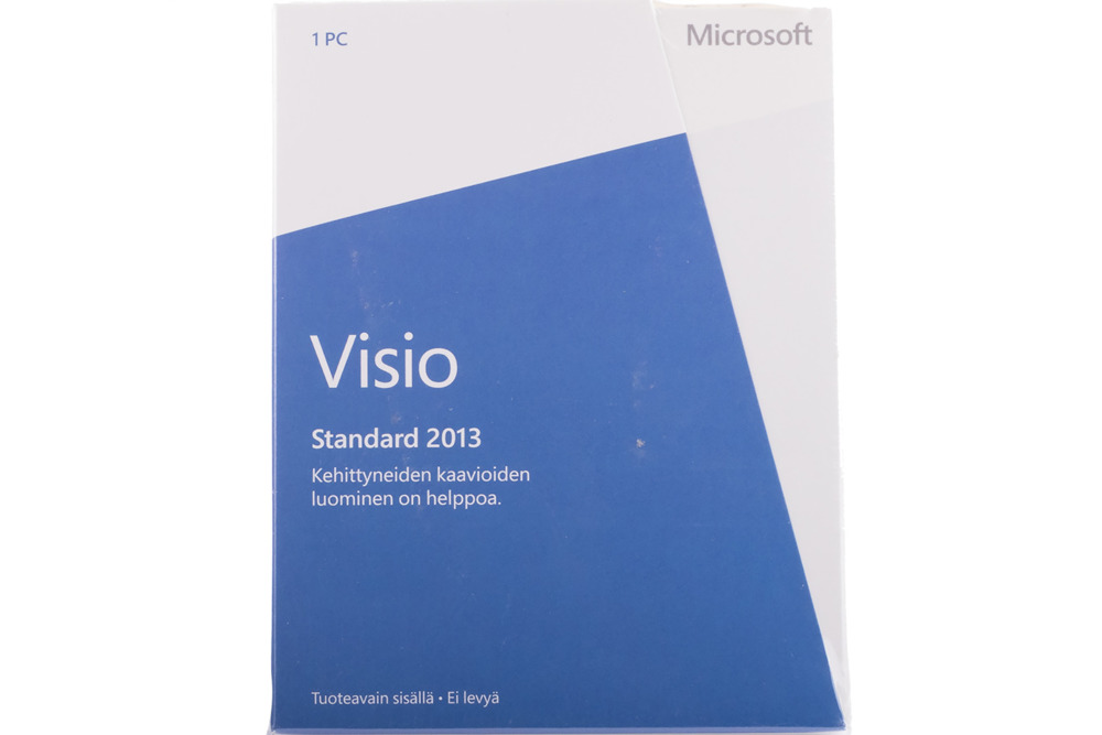 Neu OVP Microsoft Visio Professional 2013 32bit/X64 Finnish Medialess