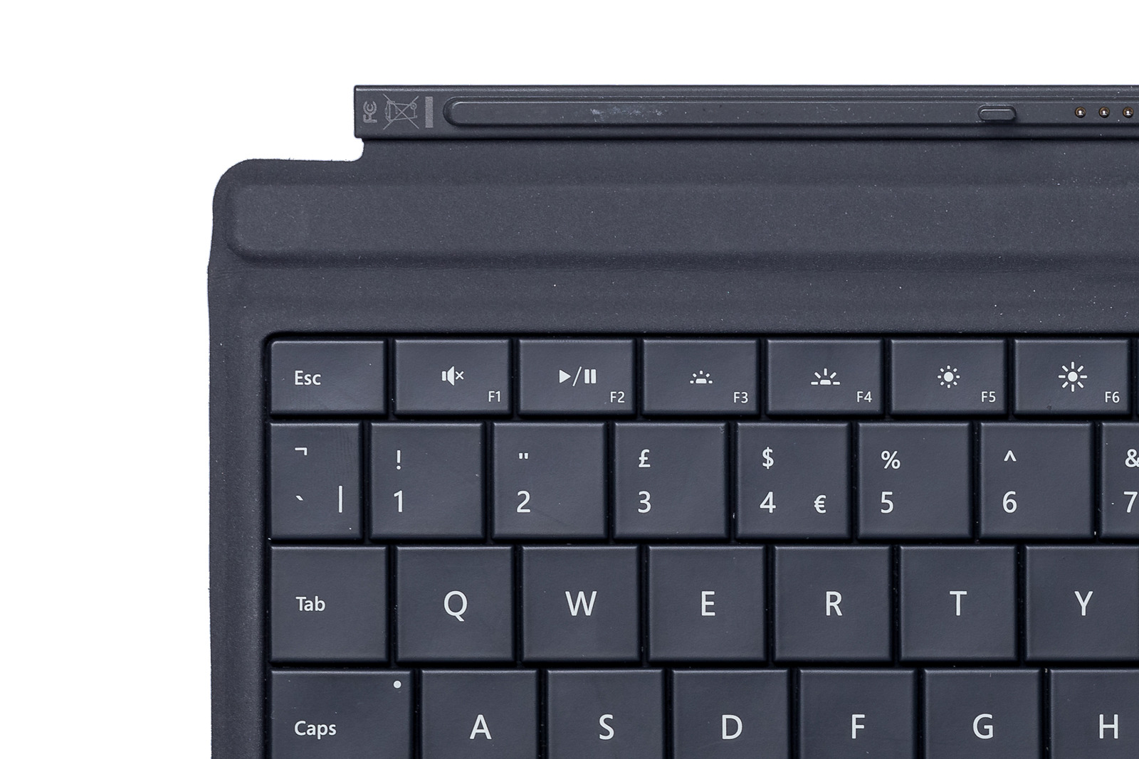 Tastatur Microsoft Surface Type Cover 3 Schwarz QWERTY UK105 Grade B